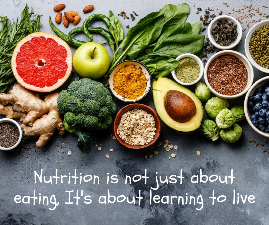 Nutrition is not just about eating, its about learning to live!